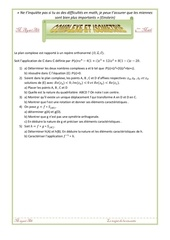 exercices complexe et isometrie 4eme math
