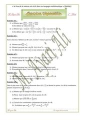 exercices trigonometrie 3eme math