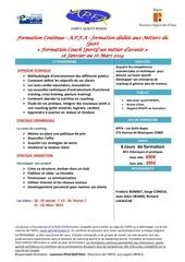 plaquette formation coach sportif pdf a p f 1