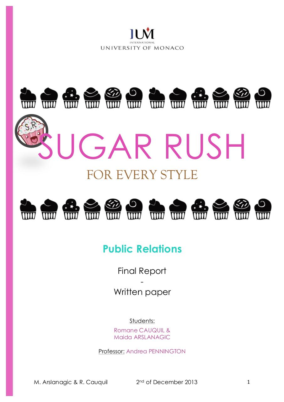 SUGAR RUSH - Final Report - Arslanagic & Cauquil.pdf - page 1/17