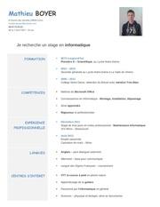 Fichier PDF cv stage informatique 1