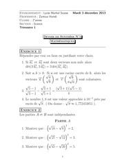 devoir de synthese n 1 maths 2013 2014