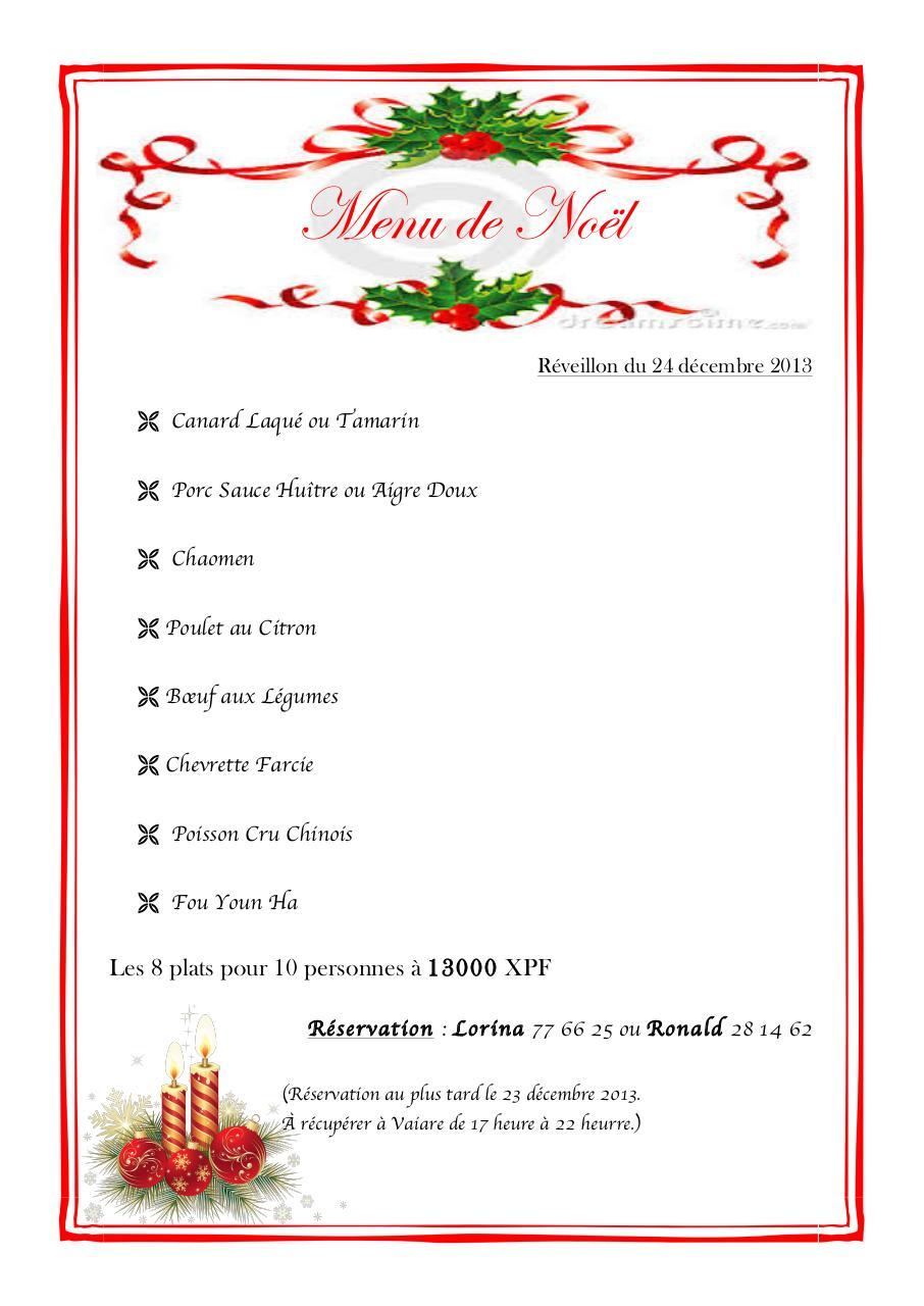 Menu De Noel Pour 10 Personnes.Document7 Par Tupai Myriam Menu Noel 2013 Pdf Fichier Pdf
