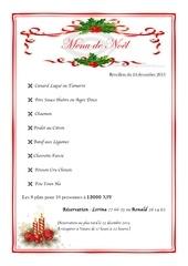 menu noel 2013