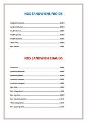 carte sandwichs salades du moulin dore