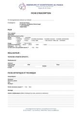 Fichier PDF formulaire inscription concours video