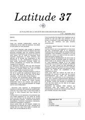 latitude 37 n 19 sept 2013