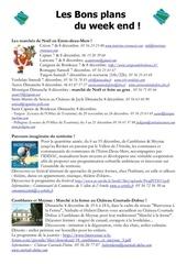 les bons plans du week end semaine n 49 2013