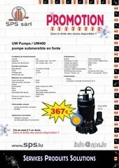 promotion noel pompe a eau uw400 sps lu