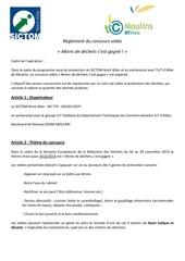 Fichier PDF reglement du concours video