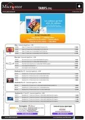 tarifs 6 decembre 2013