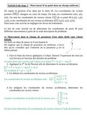Fichier PDF activite 6c du chap 5 etude mvt ds chp uniforme