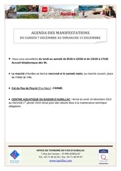 agenda semaine du 7 au 15 decembre 2013