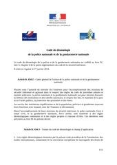 Fichier PDF code de d ontologie de la police et de la gendarmerie