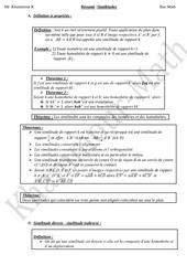 resume similitude bac math 1