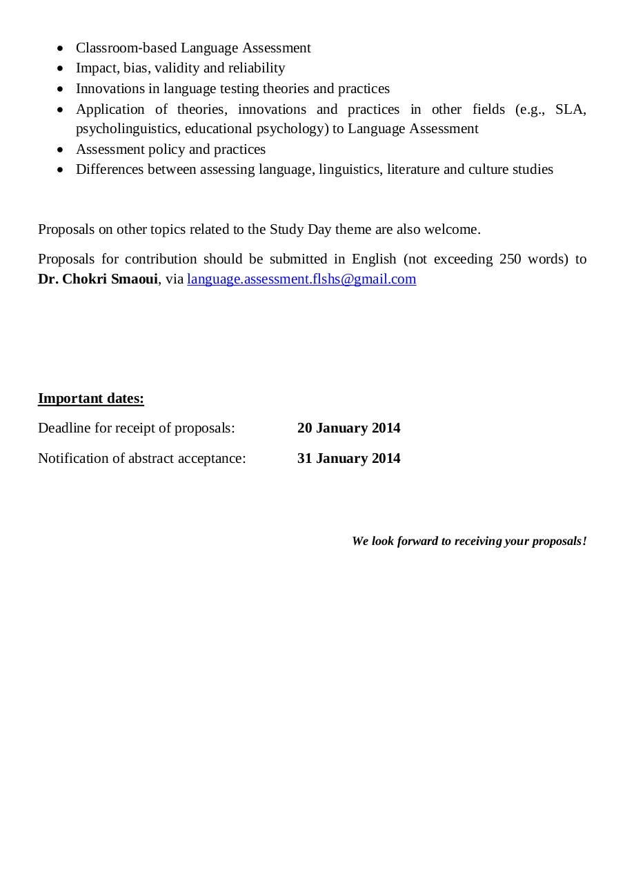 Call for Papers on Language Assessment.pdf - page 2/2