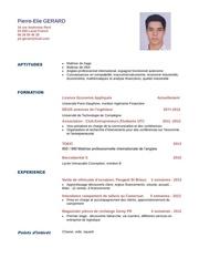 Fichier PDF cv gerard