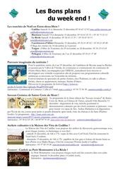 les bons plans du week end semaine n 50 2013