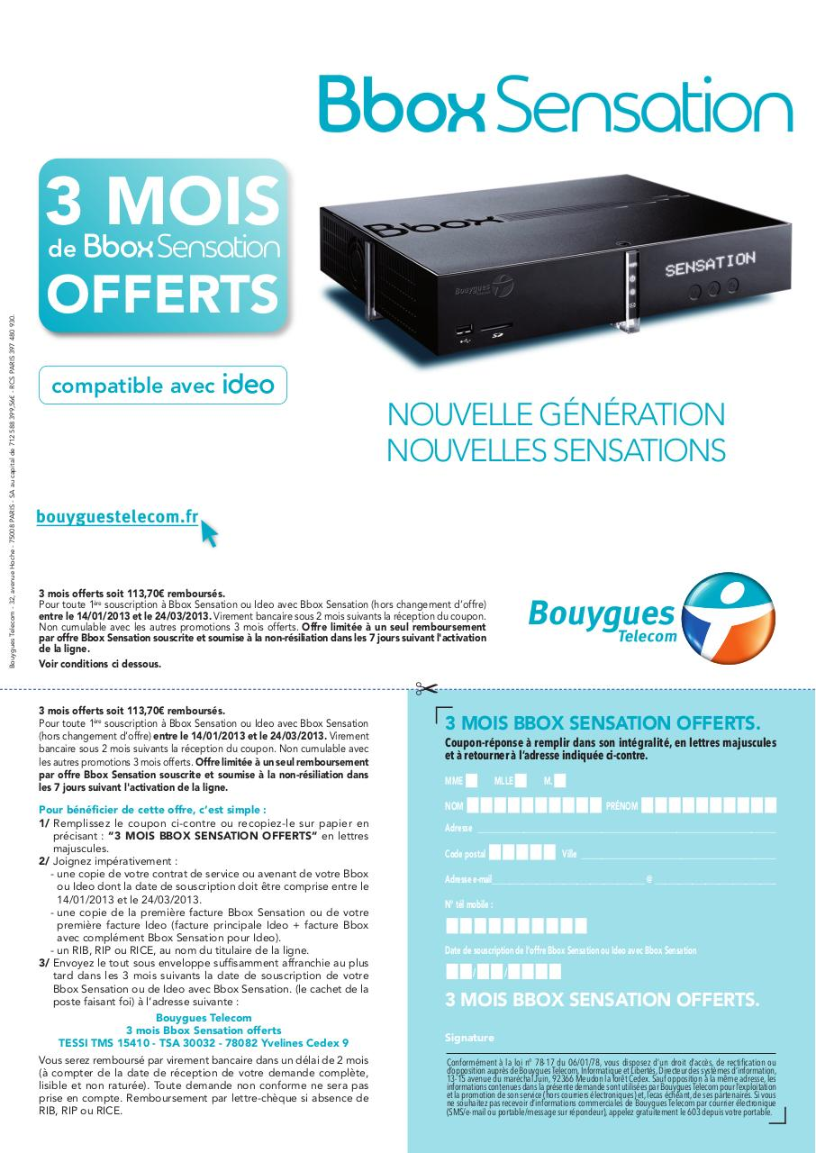 Epub Lettre Resiliation Bouygues Bbox Demenagement