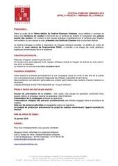Fichier PDF appel a projets 2014 residence festival rumeurs urbaines