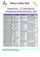 volley ball bouzy calendrier 2013 2014