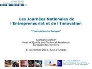 la dimension europeenne de l innovation