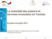 Fichier PDF presentation de l enquete innovation 2011 2013 notoriete des services