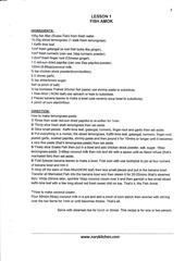 recettes en anglais originales