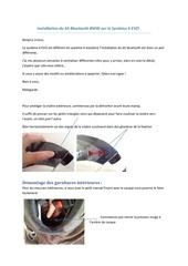installation du kit bluetooth bmw sur le systeme 6 evo