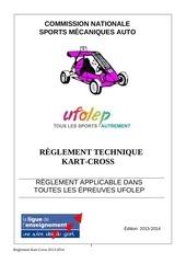 reglement kart cross 2014