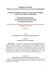 Fichier PDF traduction non officielle en francais par ohchr projet de loi justice transitionnelle
