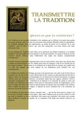 transmettre la tradition druidique