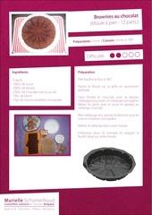 Fichier PDF recette brownies au chocolat