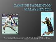 camp de badminton malaysien 2014 1