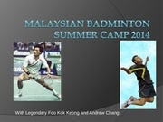 malaysian badminton summer camp 2014