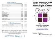 menu de fetes 2013