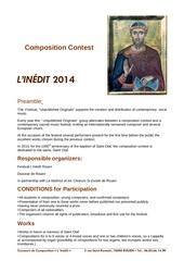 Fichier PDF reglement en anglais concours l inedit 2014