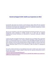 Fichier PDF extrait du rapport scav relatifs aux inspections en 2012