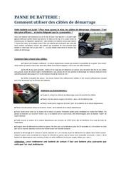 Fichier PDF panne de batterie citerne