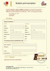 bulletin de pre inscription roumanie r aide