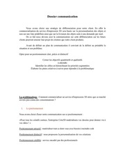 dossier communication