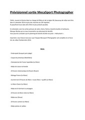 Fichier PDF previsionnel sortie mecasport photographer