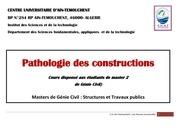 pathologie de construction chapitre 3