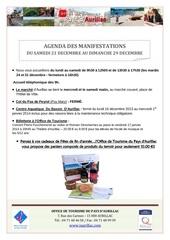 agenda semaine du 21 au 29 decembre 2013