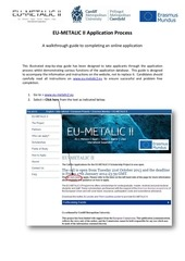 eu metalic ii application process