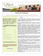 note de politique 1 fourniture de prestations de service