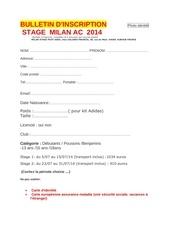 bulletin inscription stagemilan2014