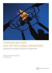 thomson reuters 2013 top 100 global innovators