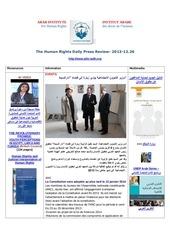 aihr iadh human rights press review 2013 12 26