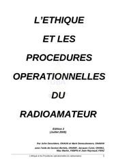 ethique et pratique radioamateur